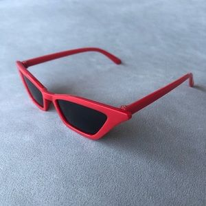 Red Cat Eye Sunglasses with Black Lenses ~ NWT